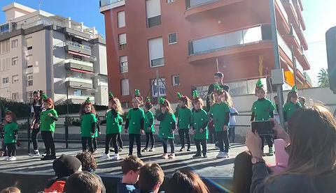 Actuación de Navidad de los Babies de la escuela, de Danza Urbana.