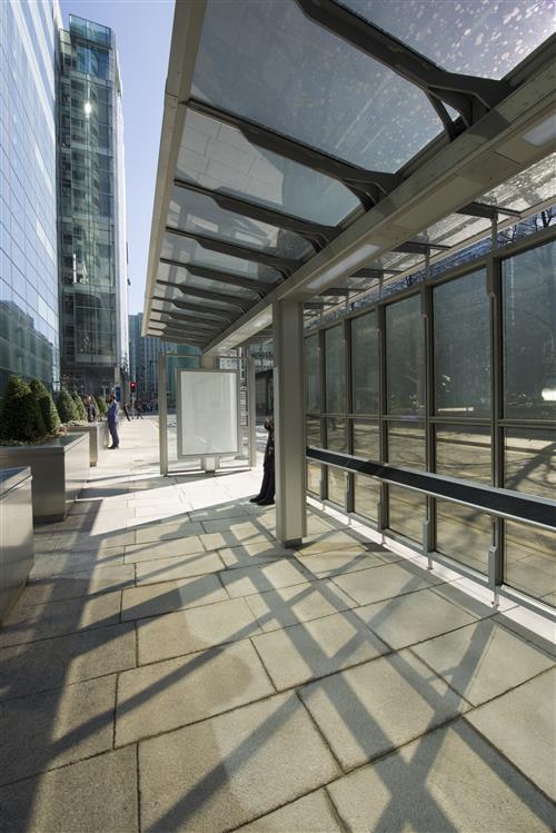 Canary wharf bus shelter