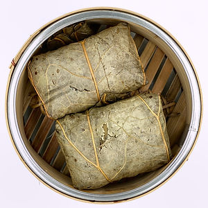 Kings Kitchen Dim Sum Sticky Rice Wrap With Meat In Lotus Leaf