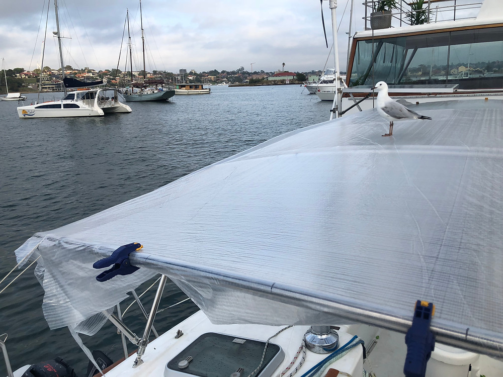 Spray Dodger Frame work and Patterning - Marine Trimming Sydney