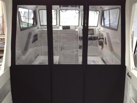 Boat Cover Cabin Divider