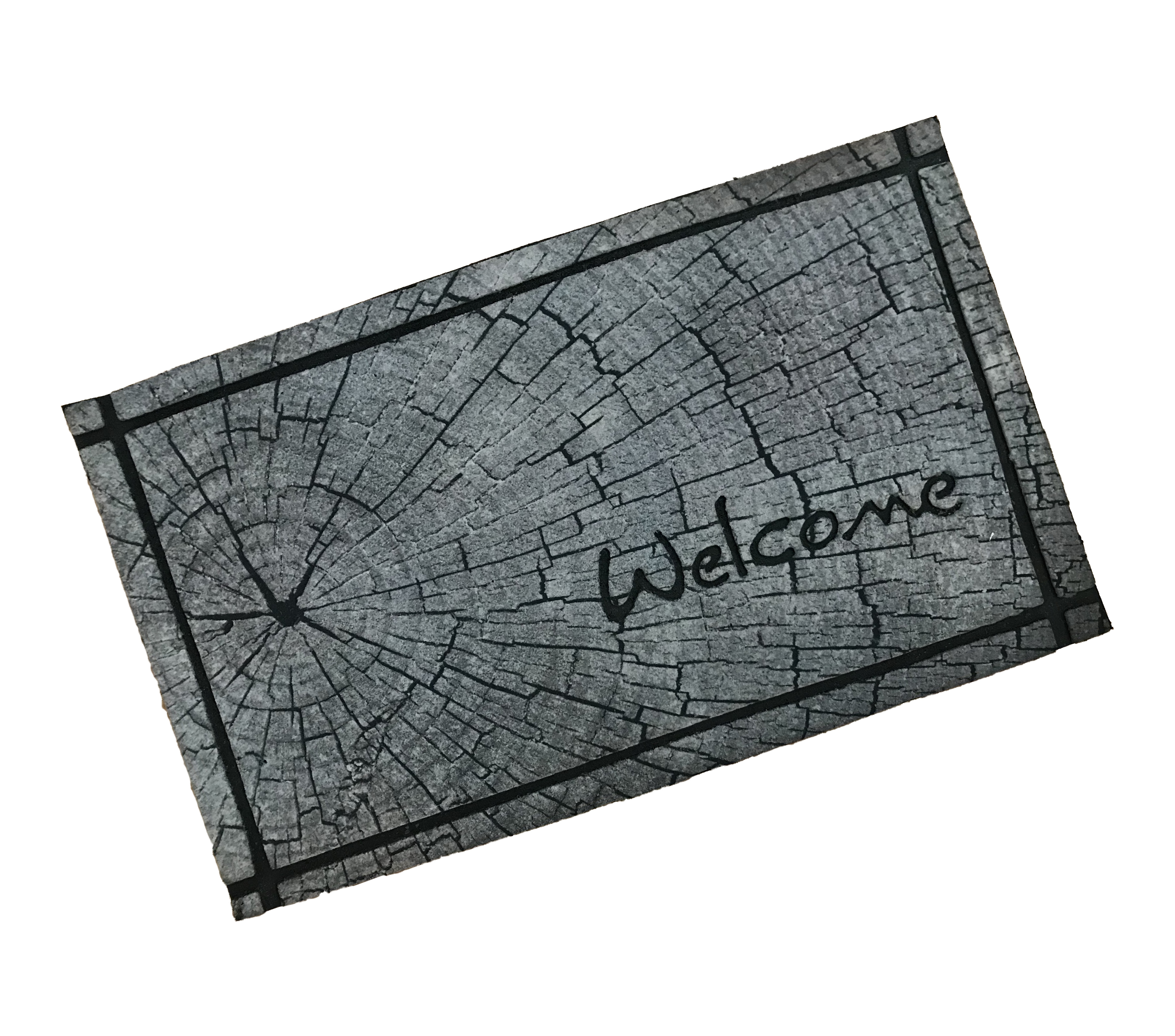 Tree Trunk Wood Welcome Outdoor Mat