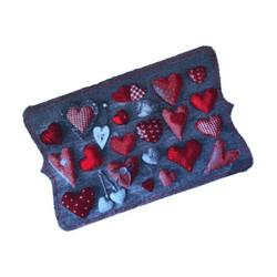Red Hearts Wash Mat
