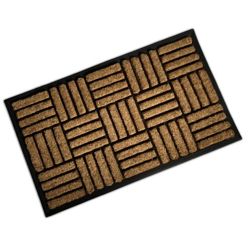 Rubber & Coir Mat - Stripes & Squares