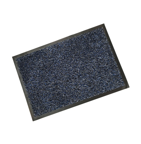 Rubber Border Blue Cotton Wash Mat