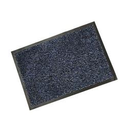Rubber Border Blue Cotton Wash Mat