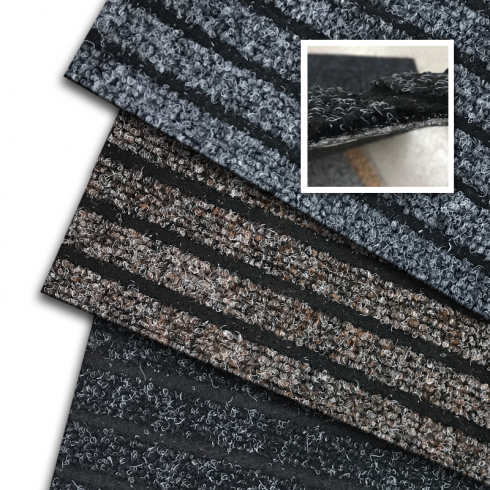 Cut-to-Size Standard Thick Stripe Synthetic Ribbed Matting