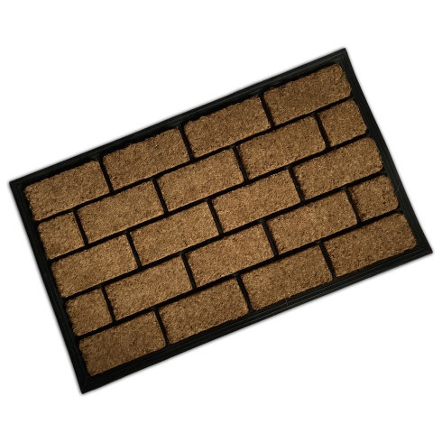 Rubber & Coir Mat - Brick Effect