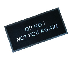 Oh No Not You Again Rubber Edged Mat