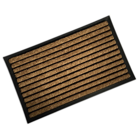 Rubber & Coir Mat - Stripes