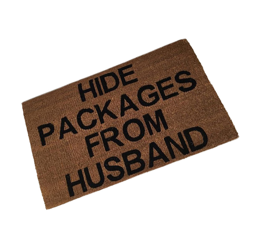 Hide Packages From Husband Coir Mat