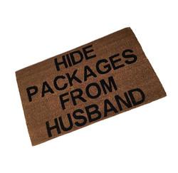 Hide Packages From Husband Coir Mat