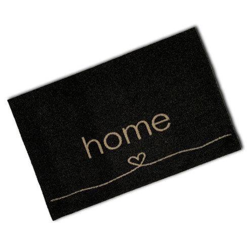Decorative Wash Mat - Black Heart Home