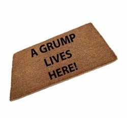 A Grump Lives Here Coir Doormat