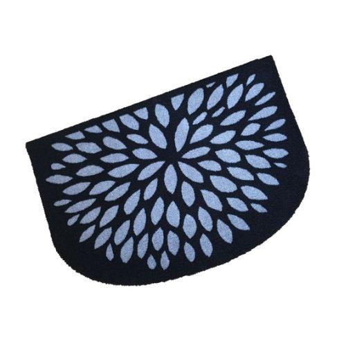 Silver Flower Half Moon Wash Mat