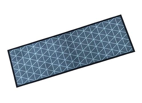 Decorative Wash Mat - Silver Geometric
