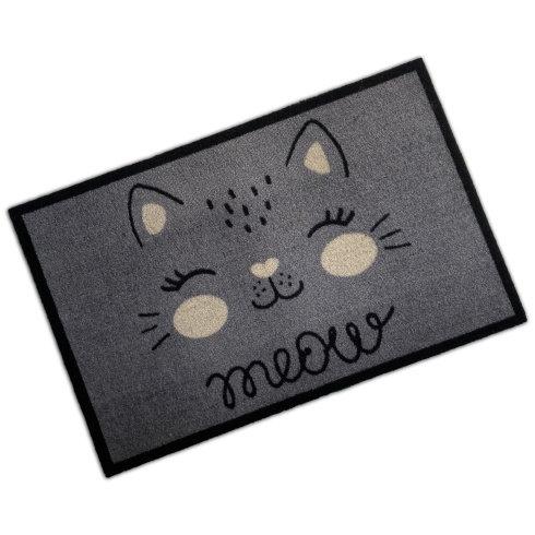 Decorative Wash Mat - Meow