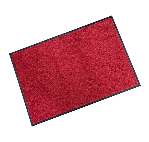 Rubber Border Wash Mat - Red