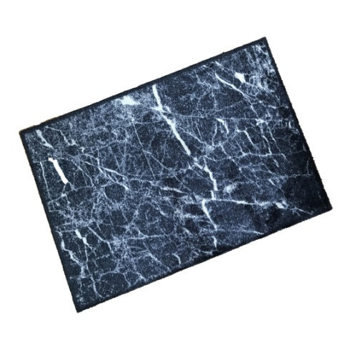 Black Marble Wash Mat