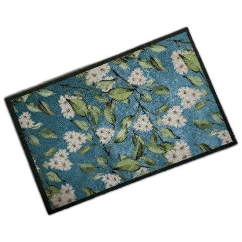 Decorative Wash Mat - Flowers Blue