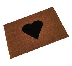Heart Logo Printed Coir Doormat