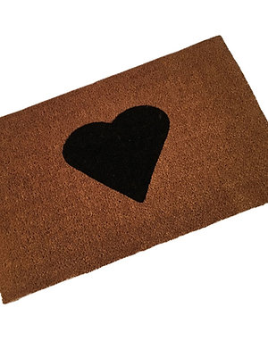 Stitched Edge Coir Doormat with Printed Logo