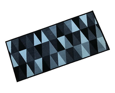 Black & Silver Triangles Cook & Wash Mat