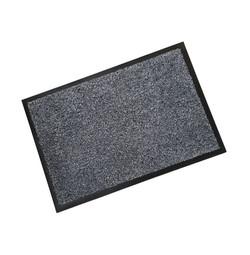 Rubber Border Grey Cotton Wash Mat