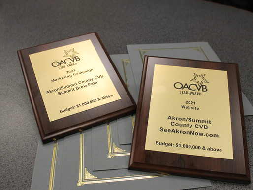Akron/ Summit Convention & Visitors Bureau Receives Seven STAR Awards