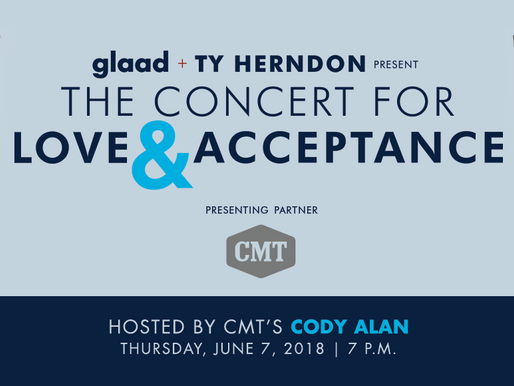 GLAAD and Ty Herndon to Bring 3rd Annual Concert for Love & Acceptance to Nashville in partnersh