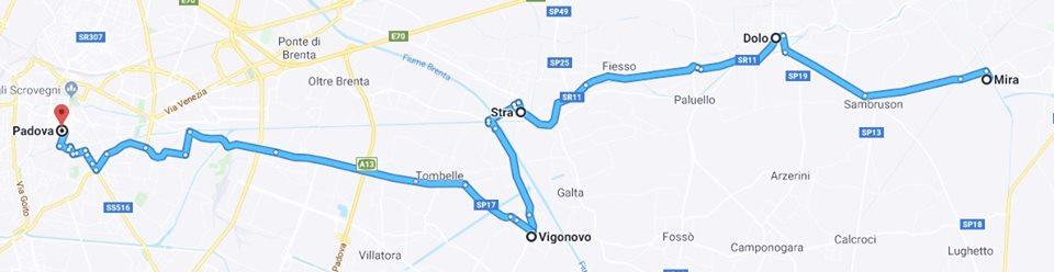 Da Mira a Padova