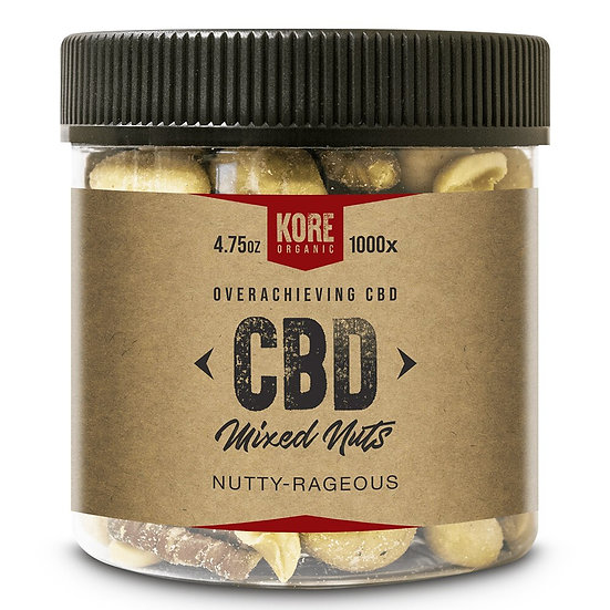 Kore Organic 1000MG Isolate CBD Mixed Nuts 4.75oz (Pack of 2)