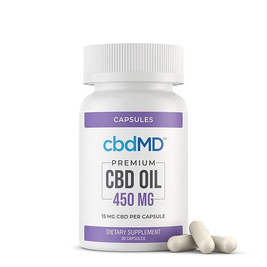 CBDMD 450MG CBD Oil Broad Spectrum Capsules 30 CT