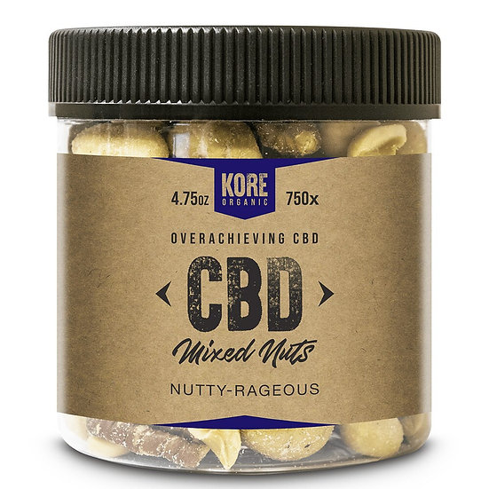 Kore Organic 750MG Isolate CBD Mixed Nuts 4.75oz (Pack of 2)