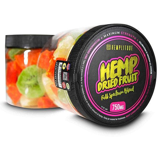 Hemplitude 750MG Full Spectrum CBD Hemp Dried Fruit 16oz (Pack of 3)