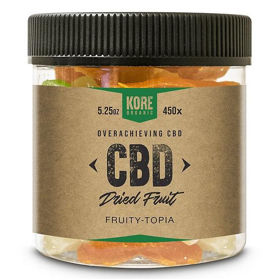 Kore Organic 450MG Isolate CBD Dried Fruit 5.25oz (Pack of 3)