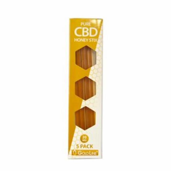 GoldLine CBD 20mg Pure CBD Honey Stix - Pack of 5