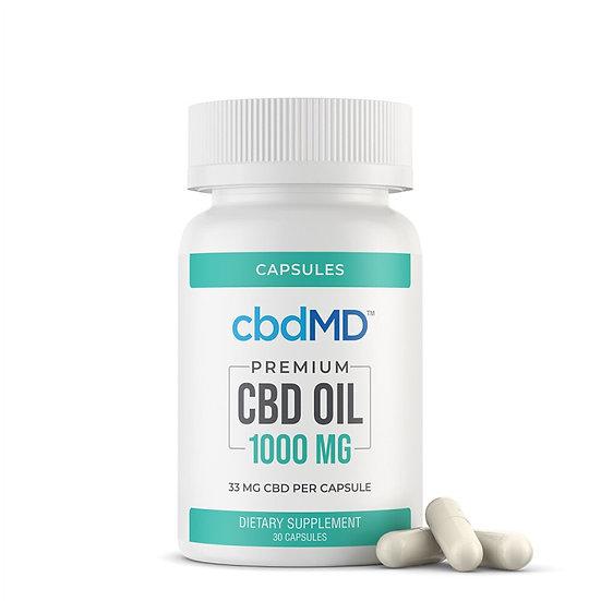 CBDMD 1000MG CBD Oil Broad Spectrum Capsules 30 CT