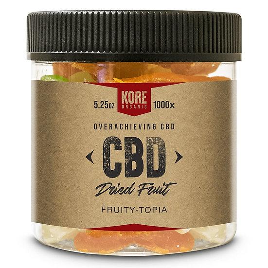Kore Organic 1000MG Isolate CBD Dried Fruit 5.25oz (Pack of 2)