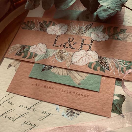 leopard print invitation