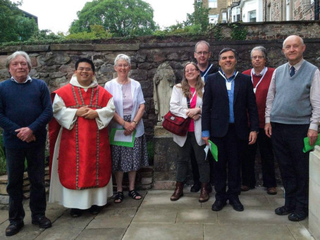 Sara & Paul Parvis contemplate the sharing of Faith at St Albert's an in the University of Edinburgh