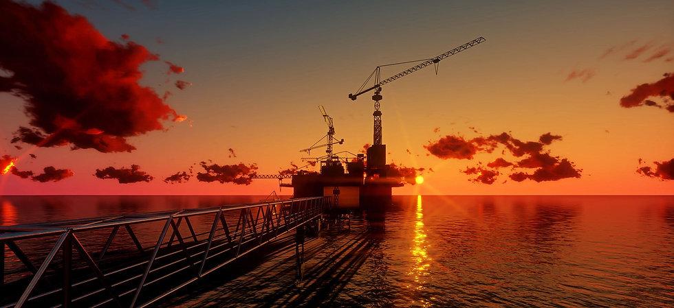 offshore-oil-rig-platform-sunset-time-3d