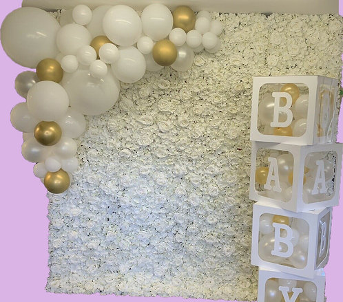 2.4m x 2.4m  Flower Wall-from