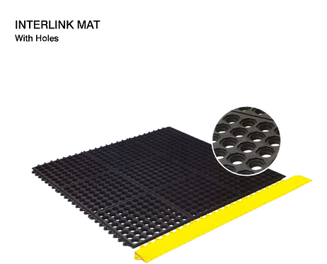 Interlink Mats with Holes