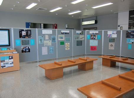 能登空港2Fロビーでの展示が始まりました!