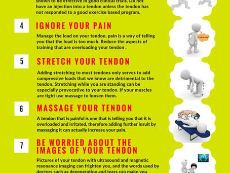 Les dix choses à NE PAS faire quand on a une tendinopathie du membre inférieur !