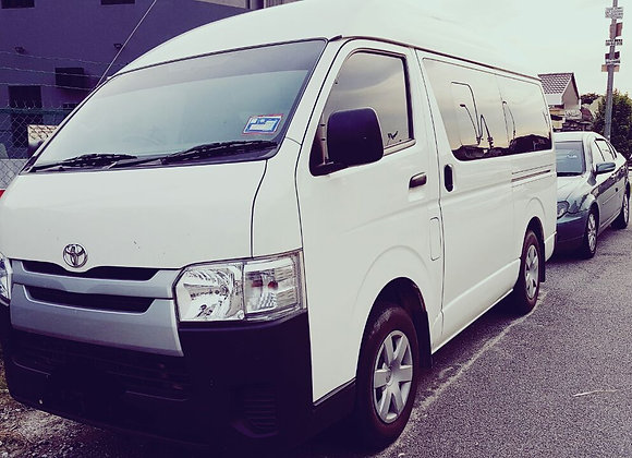 Toyota Hiace for rental by KSE Rent A Car @ mydrivehappy