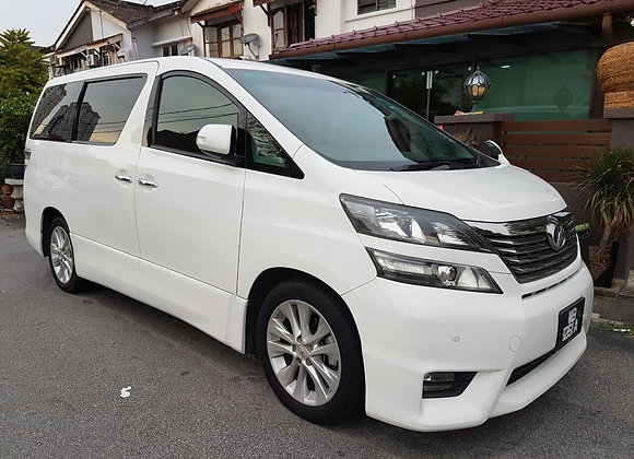 Toyota Vellfire for rental by KSE Rent A Car @ mydrivehappy