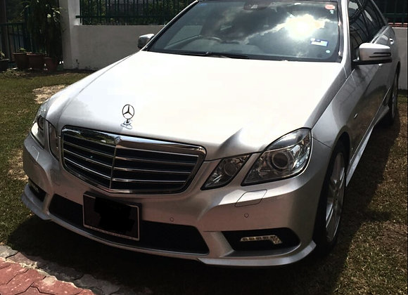 Mercedes E250 for rental by KSE Rent A Car @ mydrivehappy