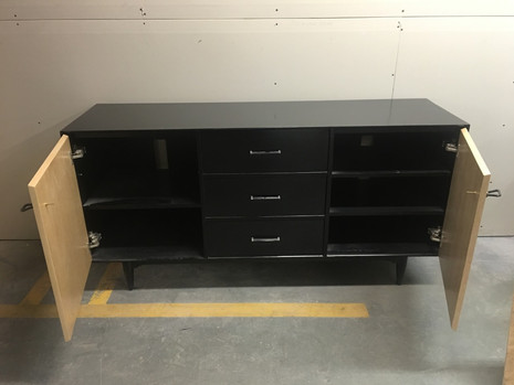 CN Coterie Entertainment set with TV stand at back